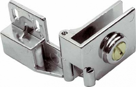 Glass Door Hinge Set 170° - Chrome-plated