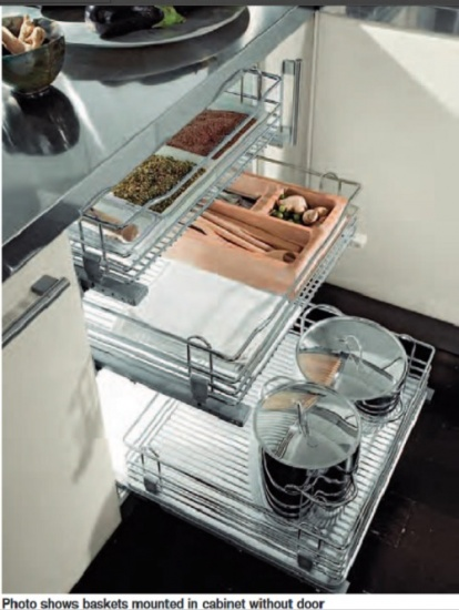 VIBO Pull Out Wire Storage Basket Set
