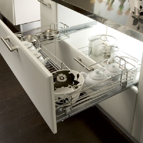Undersink Pull Out Wire Basket Set, for 800-1000 mm cabinet width