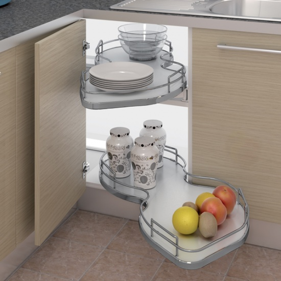 Nuvola Corner Pull-out Shelving Unit System