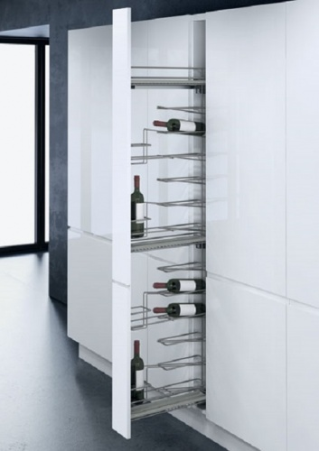 Vauth-Sagel Pull Out 150mm Larder Unit With 16 Bottles WINE RACKS