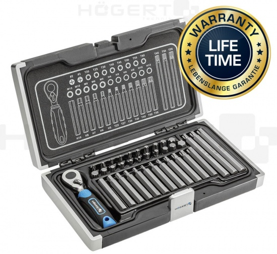 Hogert 37-pcs Screwdriver Bit Set - HT1R466