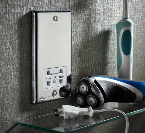 Sensio Dual Voltage Shaver and Toothbrush Socket