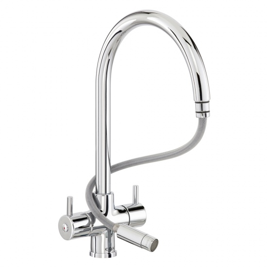 CDA Monobloc Tap With Pull-out Spout - TC56CH