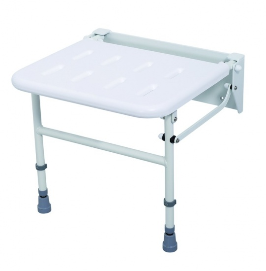 Foldaway Shower Seat With Legs, Nyma Care/Pro