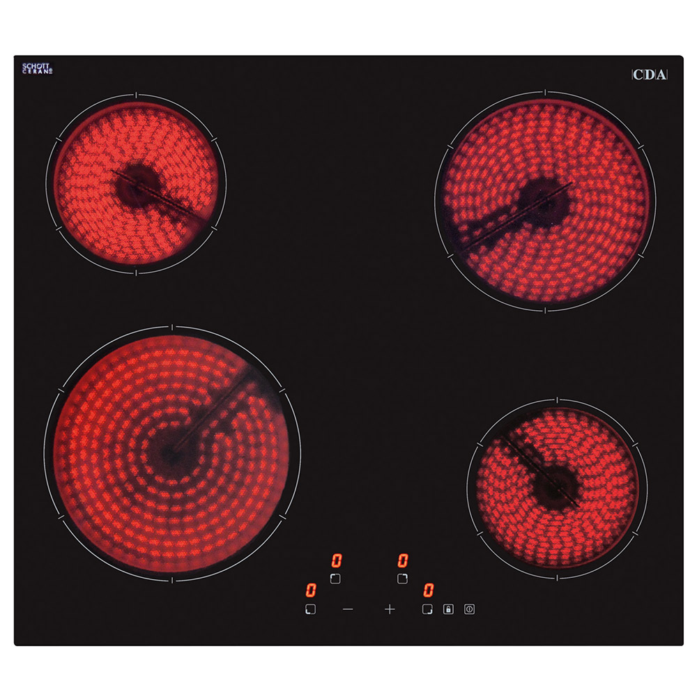 Cda Four Zone Ceramic Hob Hc6621fr
