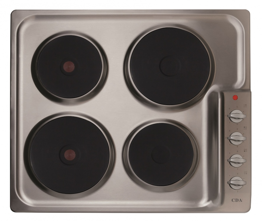 cda four plate electric hob he6051ss. Black Bedroom Furniture Sets. Home Design Ideas