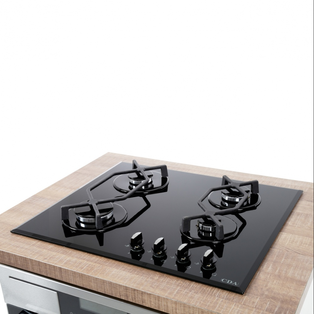 Cda Four Burner Gas On Glass Hob Hvg620