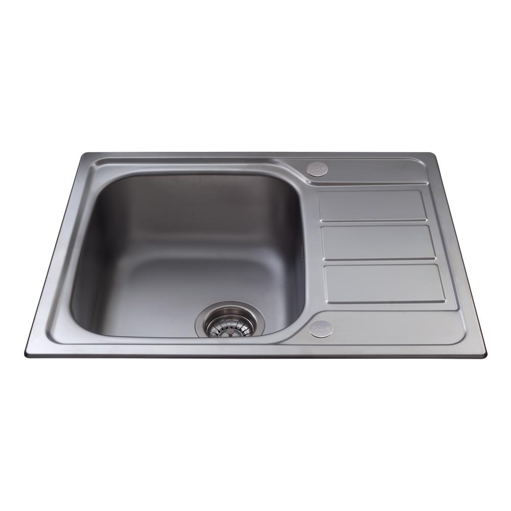 cda stainless steel single bowl sink with mini drainer - ka55ss