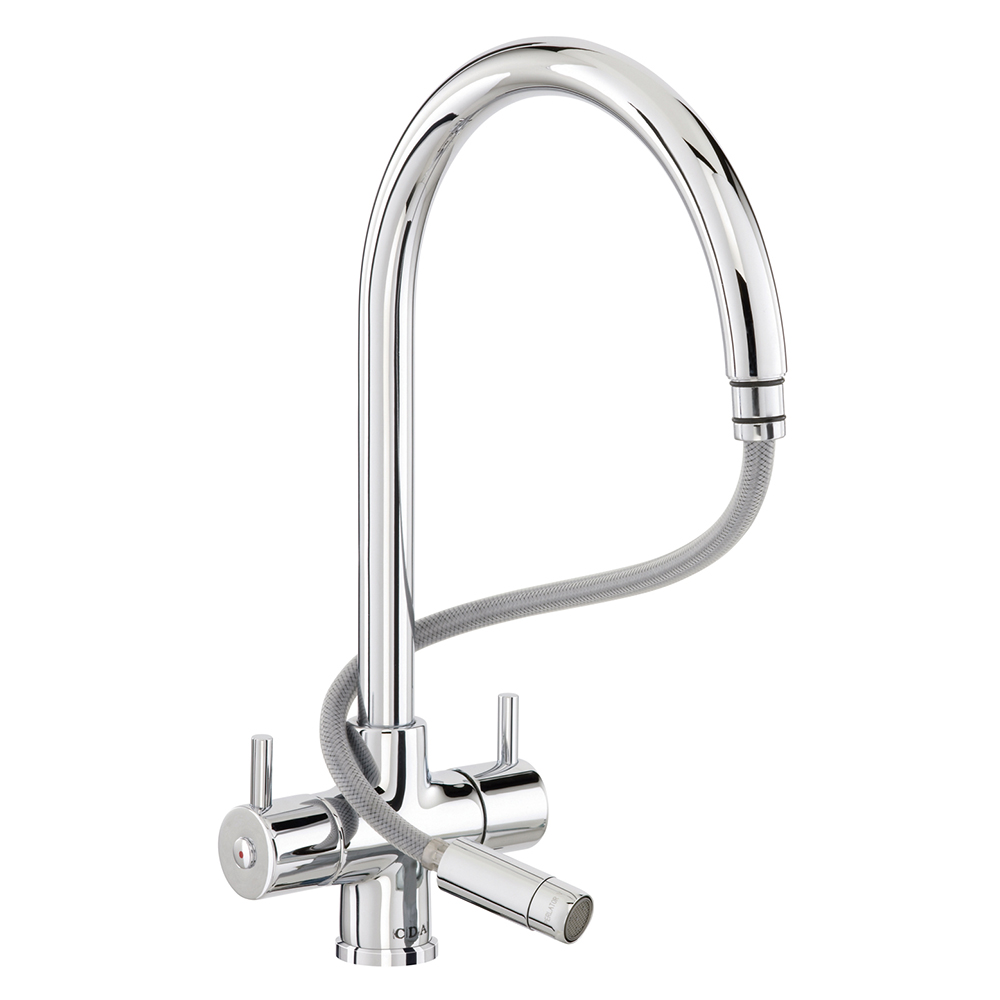 CDA Monobloc Tap With Pull-out Spout - TC56