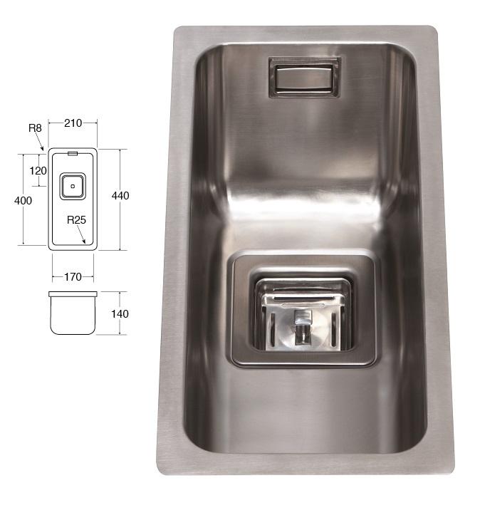 Cda Stainless Steel Undermount Large Single Bowl Sink