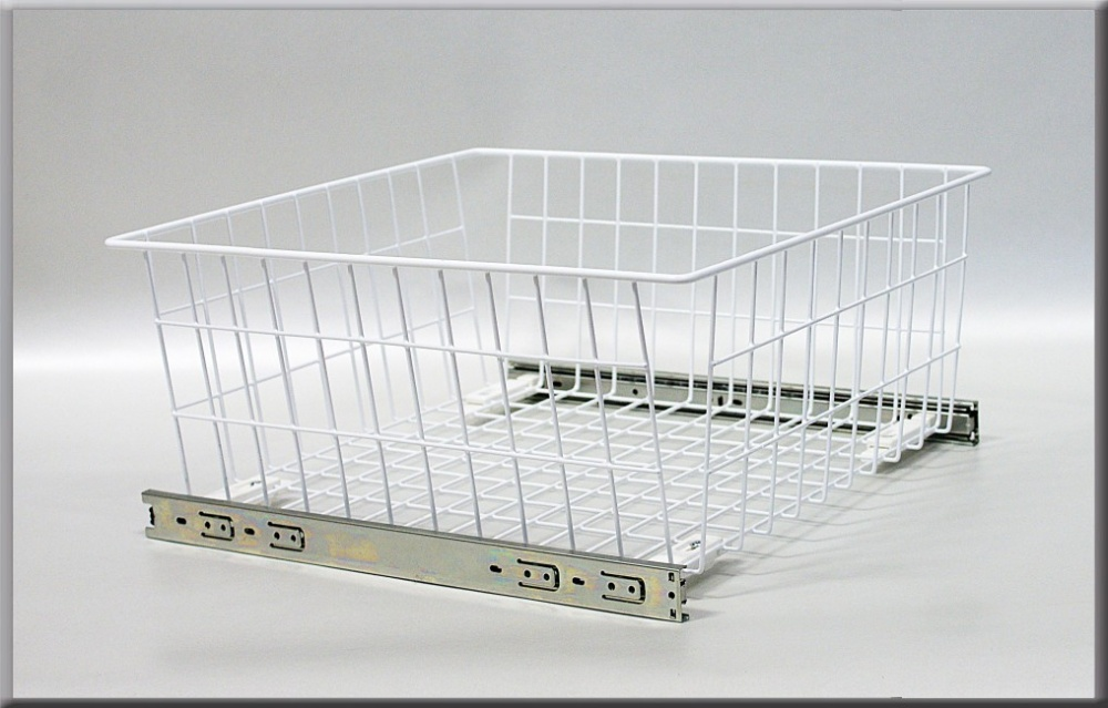Wardrobe Pull Out Wire Basket With Soft Close System
