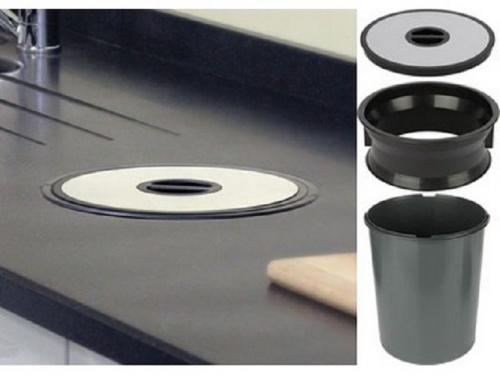 Kitchen Worktop Waste Bin Stainless Steel Own Bags
