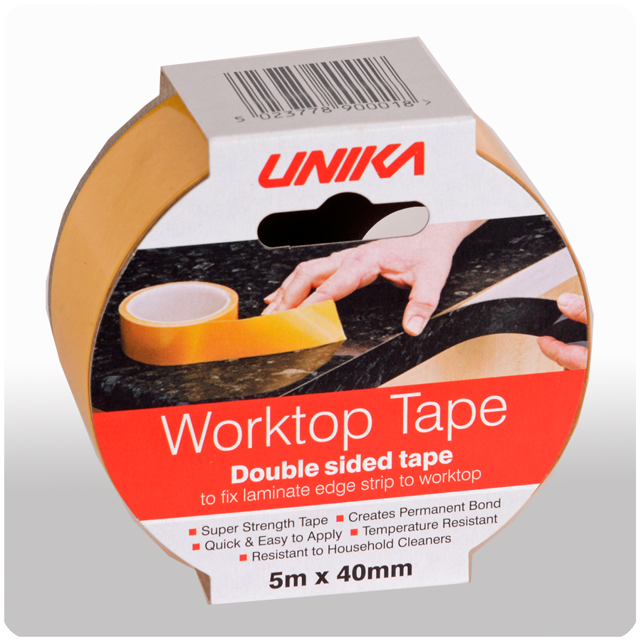 unika worktop double sided pvc tape. Black Bedroom Furniture Sets. Home Design Ideas
