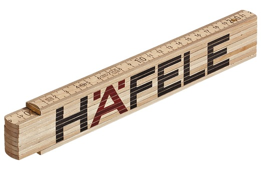Häfele Ruler, Pocket, Beech with Steel Joints