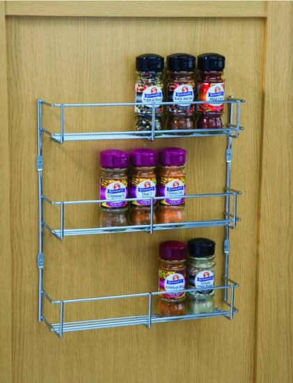 Spice & Packet Rack, Three Tiers Heavier Gauge Chrome