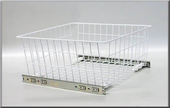 Wardrobe Pull Out Wire Basket With Soft Close Runners