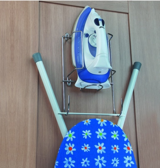 Door Or Wall Mounted Iron And Ironing Board Holder