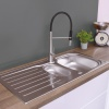 CDA Stainless Steel Kitchen 1.5 Bowl Sink - KA22SS