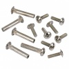 M4 Connecting Screws / 2-Pieces with Sleeve & Combi Slot / Complete Fitting