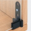 Glass Door Pivot Hinge 180° Sprung -  Black