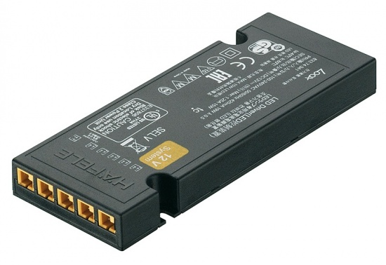 Hafele Loox 12V LED Driver IP20 with 6 Way Constant Voltage
