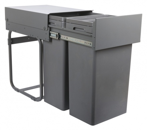 Waste BOSS Duo Pull Out Waste Bin 2x32 litres for Hinged Door Cabinet 400mm