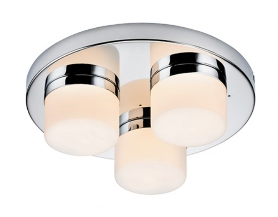 Saxby Bedroom / Bathroom LED Pure 3 Lights Flush IP44 / 28W