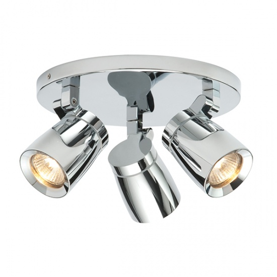 Endon Knight Triple Chrome Plated IP44 Ceiling Spot Ligh