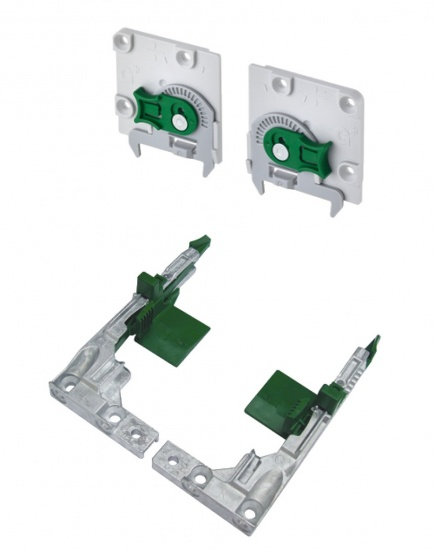 Grass Fixing Brackets Clips for Narrow Drawers Set