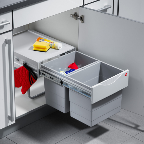 Hailo Space Saving Tandem Kitchen Pull Out Waste Bins