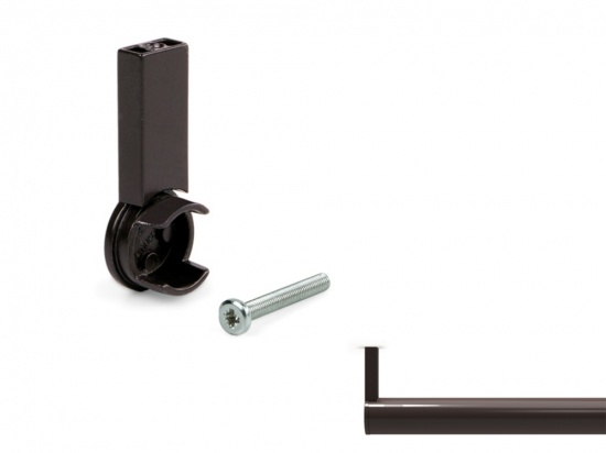 Moka End Support for Ø28 mm Round Rail