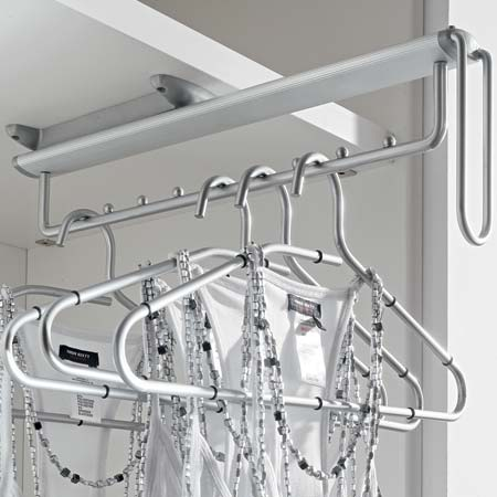 Wardrobe Vibo Pull Out Clothes Hanger Rail Undermounted
