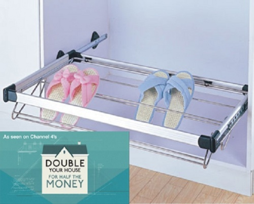 Bedroom & Wardrobe Pull Out Shoe Storage Rack