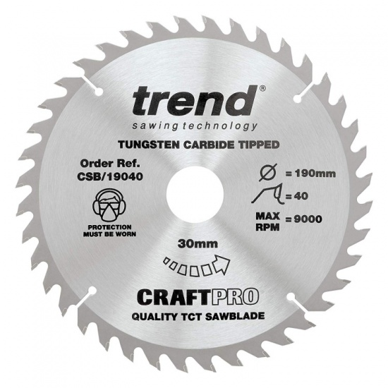 Trend Craft Pro Professional Saw Blade for Medium Finish