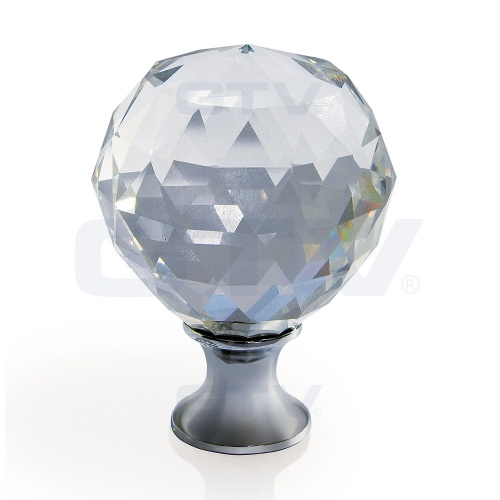 Diamond Crystal Glass Door Knob