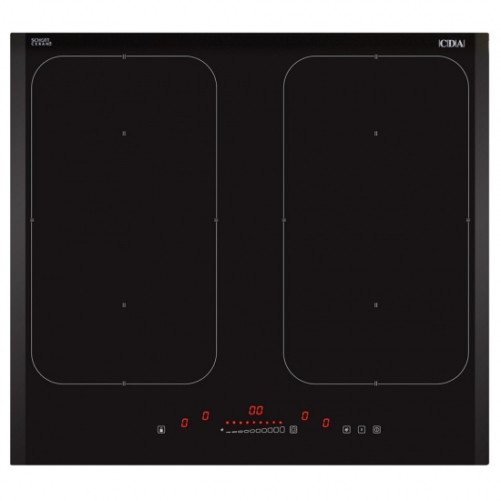 CDA Four Zone Induction Hob With Illuminated Front Edge - HN6841FR