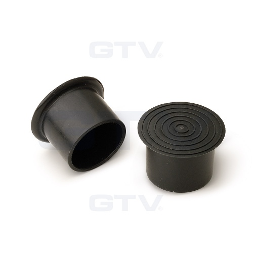 Round Tube Plastic End Cover Cap 25mm - Black
