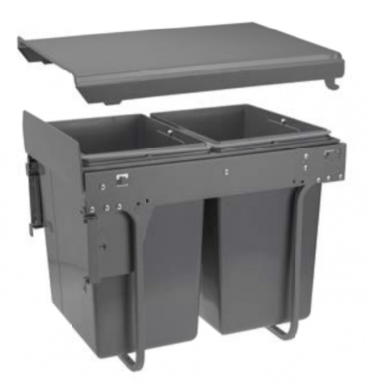 Practic ECO Kitchen Pull Out Recycle / Waste Bin for 400mm Unit