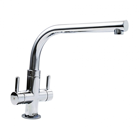 CDA Contemporary Kitchen Quarter Turn Monobloc Sink Tap -  TC28CH