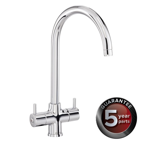CDA Monobloc Kitchen Sinks Tap With Swan Neck Spout - TC55
