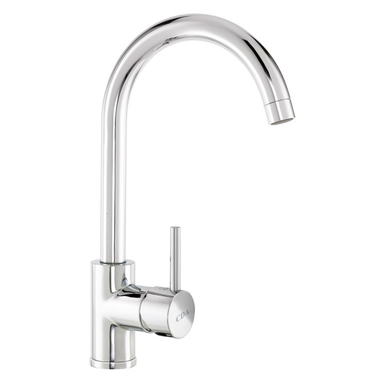 CDA Side Single Lever Tap With Swan Neck Spout - TC57CH