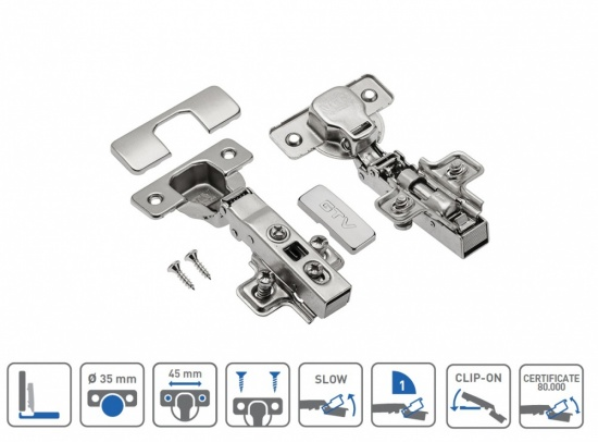 Soft Close 110° Kitchen / Bedroom Cabinet Door Hinge