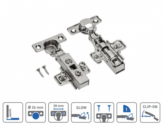 Soft Close MINI Cabinet Door Hinge 90 Degree