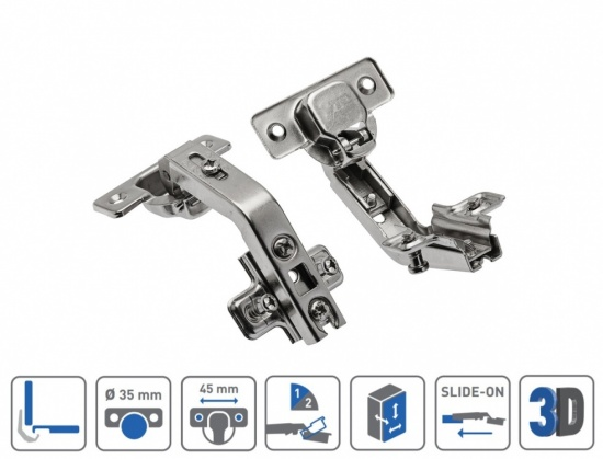 Kitchen Cabinet Complementary Hinge 135 Degree
