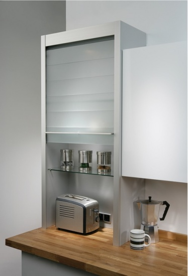 Hafele Glass Tambour Door System