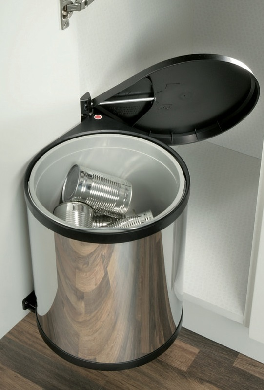 Sliding Door Handles >> Hailo Kitchen Under Sink Waste Bin Mono (15L)