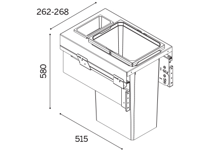 Vauth Sagel Kitchen Envi Space Pro Pull Out Waste Bin