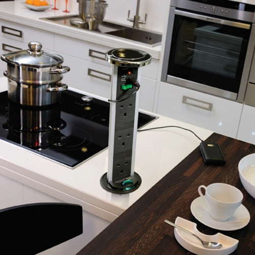 Kitchen Vertical Powerdock With USB Connectors