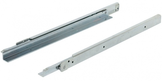 Drawer Roller Runners / Single Extension / Load Capacity 100 kg